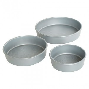 3 in 1 Aluminium Round Cake Mould (5 inches /6.5 inches / 7inches)